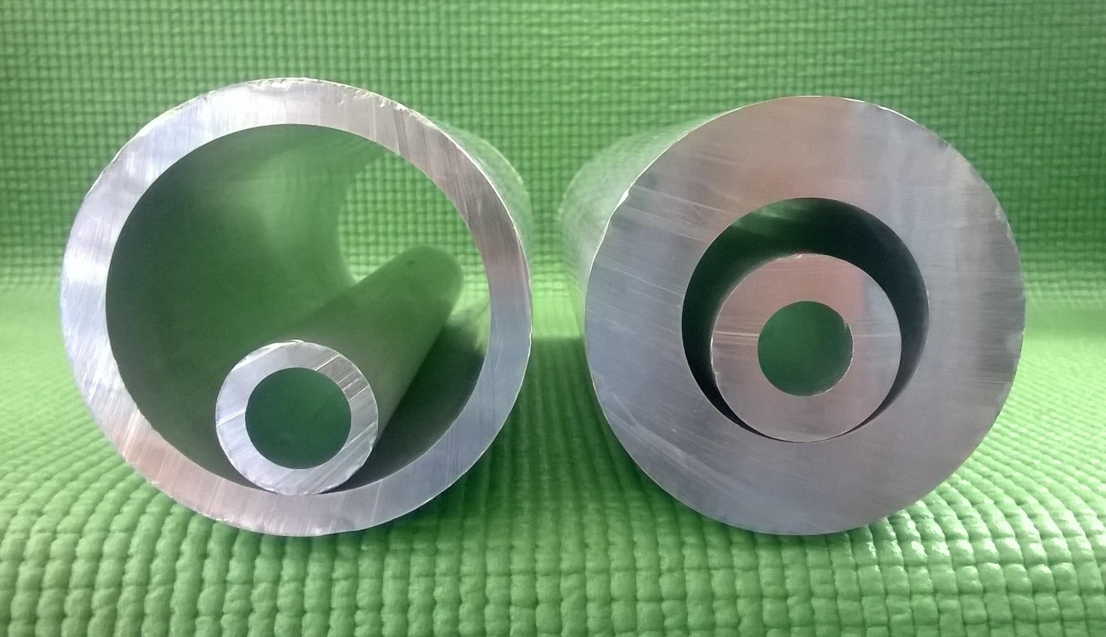 Barra hueca de aluminio de aluminio - Barras de aluminio huecas ...